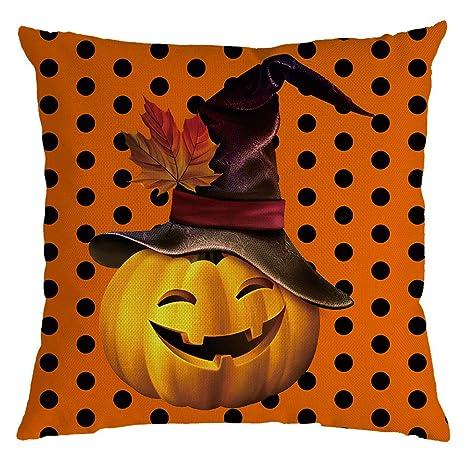 Loolik 1 Pack Halloween Estilo Lino Throw Pillow Case Funda ...