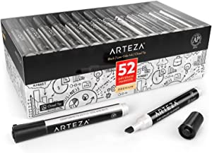 ARTEZA Dry Erase Markers, Bulk Pack of 52 (with Chisel Tip), Black Color with Low-Odor Ink, Whiteboard Pens is perfect for School, Office, or Home
