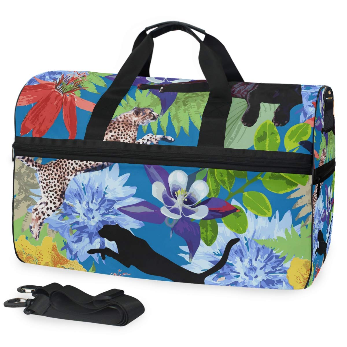 Travel Duffel Bag Forest Animals Waterproof Lightweight Luggage bag for Sports Gym Vacation