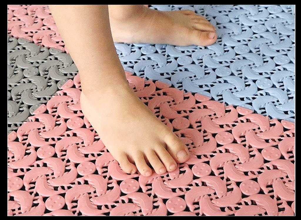 ZSJ fat pig Bodenmatte Badspleißmatte Badezimmer WC-Matte Duschbad Duschbad Duschbad Vollmatte Wassermatten Multi-Farbe-Nähte Rutschfeste Wasseraufnahme (Farbe    3, größe   10 Pieces) B07QB2HH5W Duschmatten a535e6