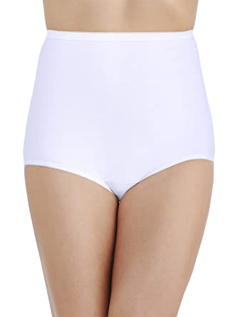 ecbb965969aa Vanity Fair Women's Plus Size Perfectly Yours Tailored Cotton Brief Panty  15318, Star White,