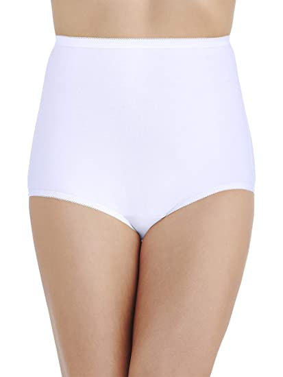 0287085e9352f3 Vanity Fair Women's Plus Size Perfectly Yours Tailored Cotton Brief Panty  15318, Star White, X-Large/8 at Amazon Women's Clothing store: Briefs  Underwear