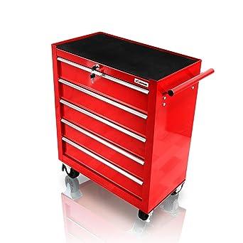 Holzinger HWW1005KG – Carro de herramientas con rodamientos de bolas (5 cajones)