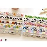 CAMTOA Blocs Mémo Autocollant Cartoon Animal Sticker Mémo Bookmark Marker Tab Flags Index Sticky Notes