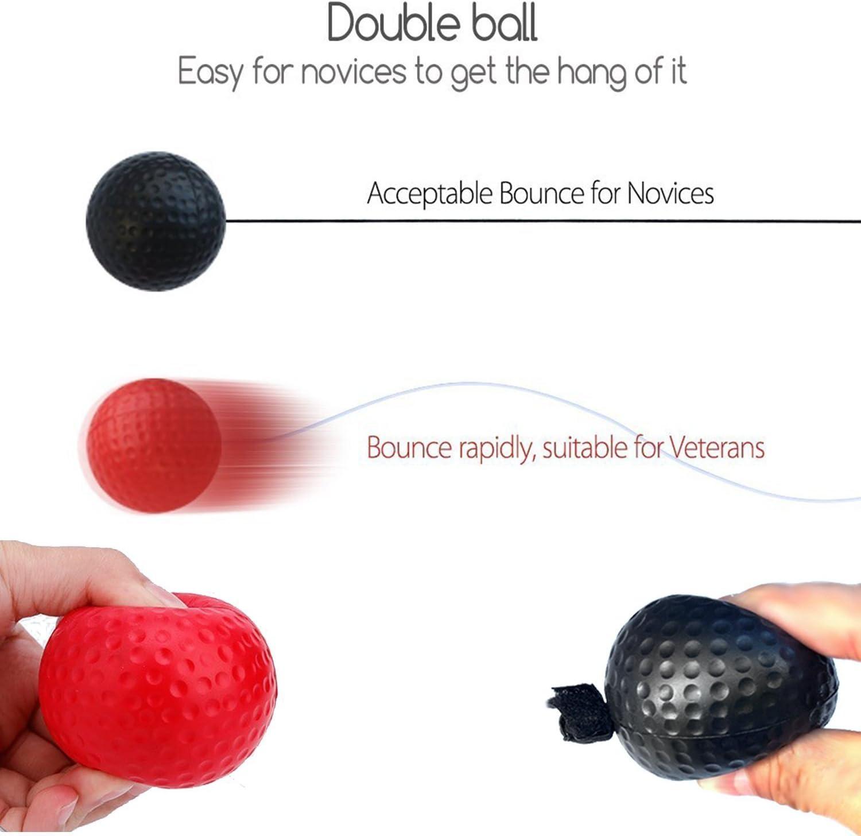 Xnature Reflejo de Boxeo Ball Fight Ball Reflex con Diadema para Fight MMA Training Reacciones de Velocidad