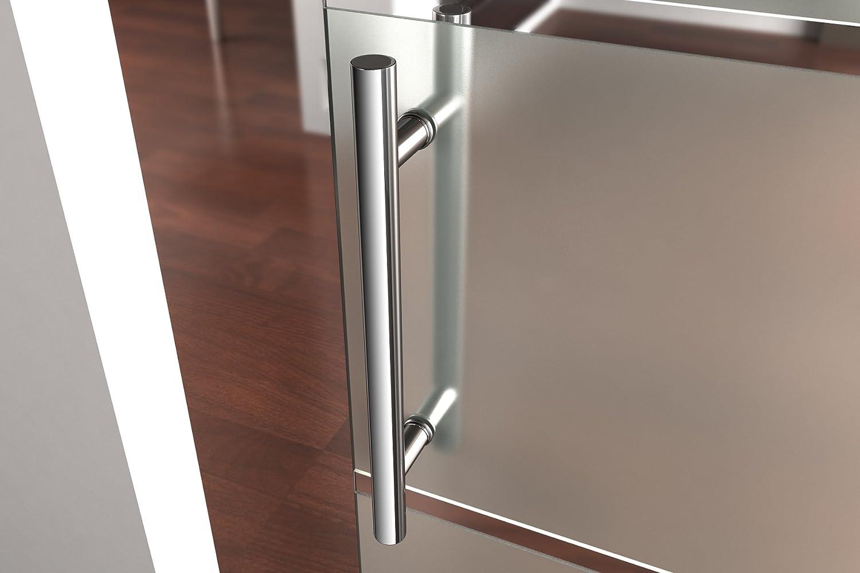 77,5x205 cm Design Glasschiebet/ür Amalfi TS11-775 Schiebet/ür Teilsatiniert Glast/ür B/ürot/ür Zimmert/ür ESG Sicherheitsglas