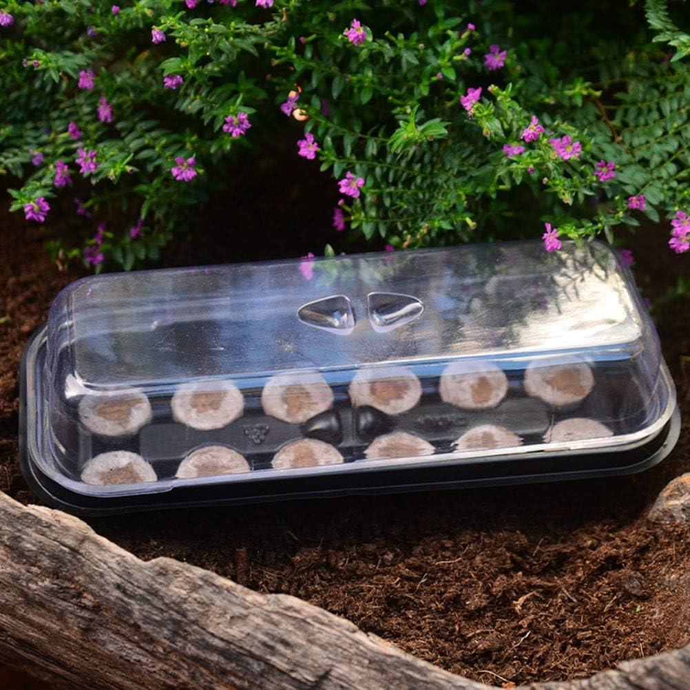Jiffy Blocks Garden Nursery - Bandeja para jardín (12 unidades, plástico)