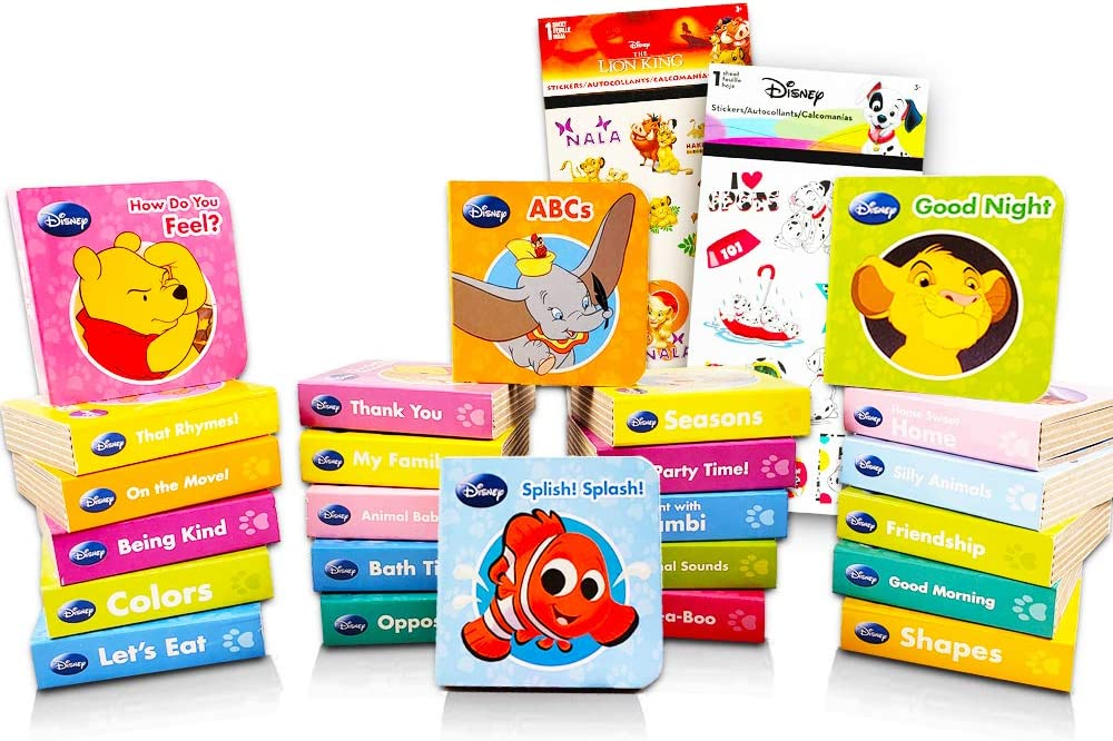 Amazon.com: Animal ABC Board Books Set Toddlers Babies -- Pack of 24 My  First Mini Board Books with Stickers (Alphabet Board Books): Kitchen &  Dining