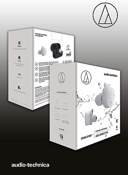 Grau Audio-Technica ATH-SPORT7TW Wireless Sport-Kopfh/örer