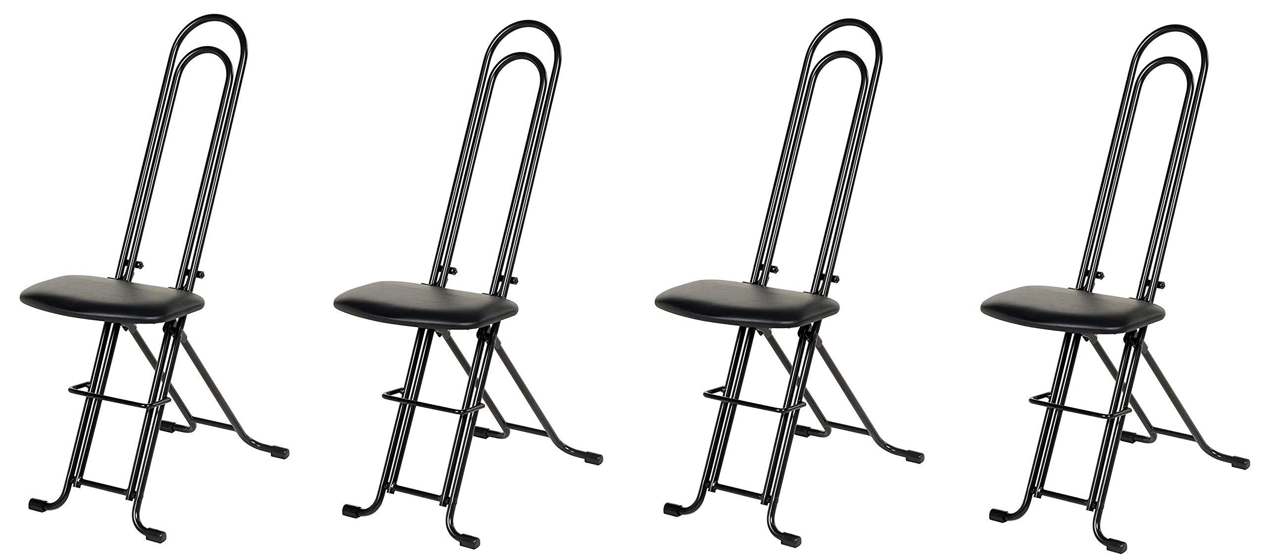 Vestil CPRO-800LP Ergonomic Worker Seat/Chair, 13-1/2'' Width, 10'' Depth, 300 lb. Capacity, 18'' - 33'' Height Range (Pack of 4)
