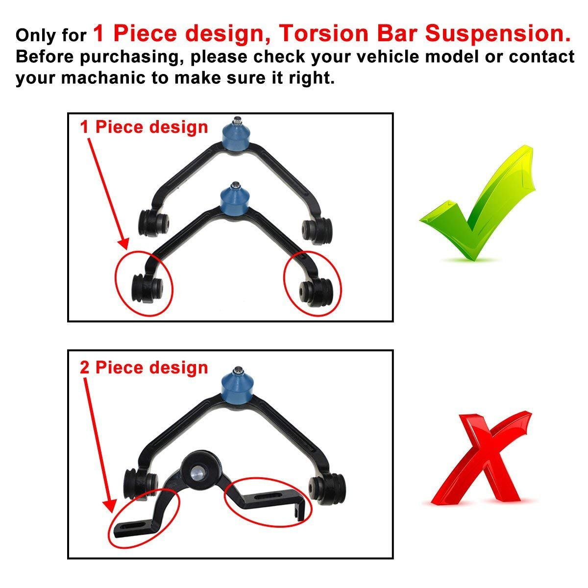 1 piece design DLZ 6 Pcs Front Suspension Kit-Upper Control Arm Lower Ball Joint Sway Bar Compatible with 1998-2001 Ford Ranger 1995-2003 Ford Explorer 1997-2001 Mercury Mountaineer 99-01 Mazda B2500