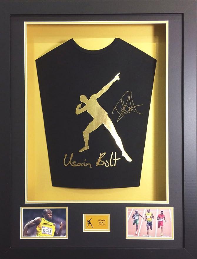 Frame It Display It Gerahmtes Trikot mit Unterschrift von Usain Bolt ...