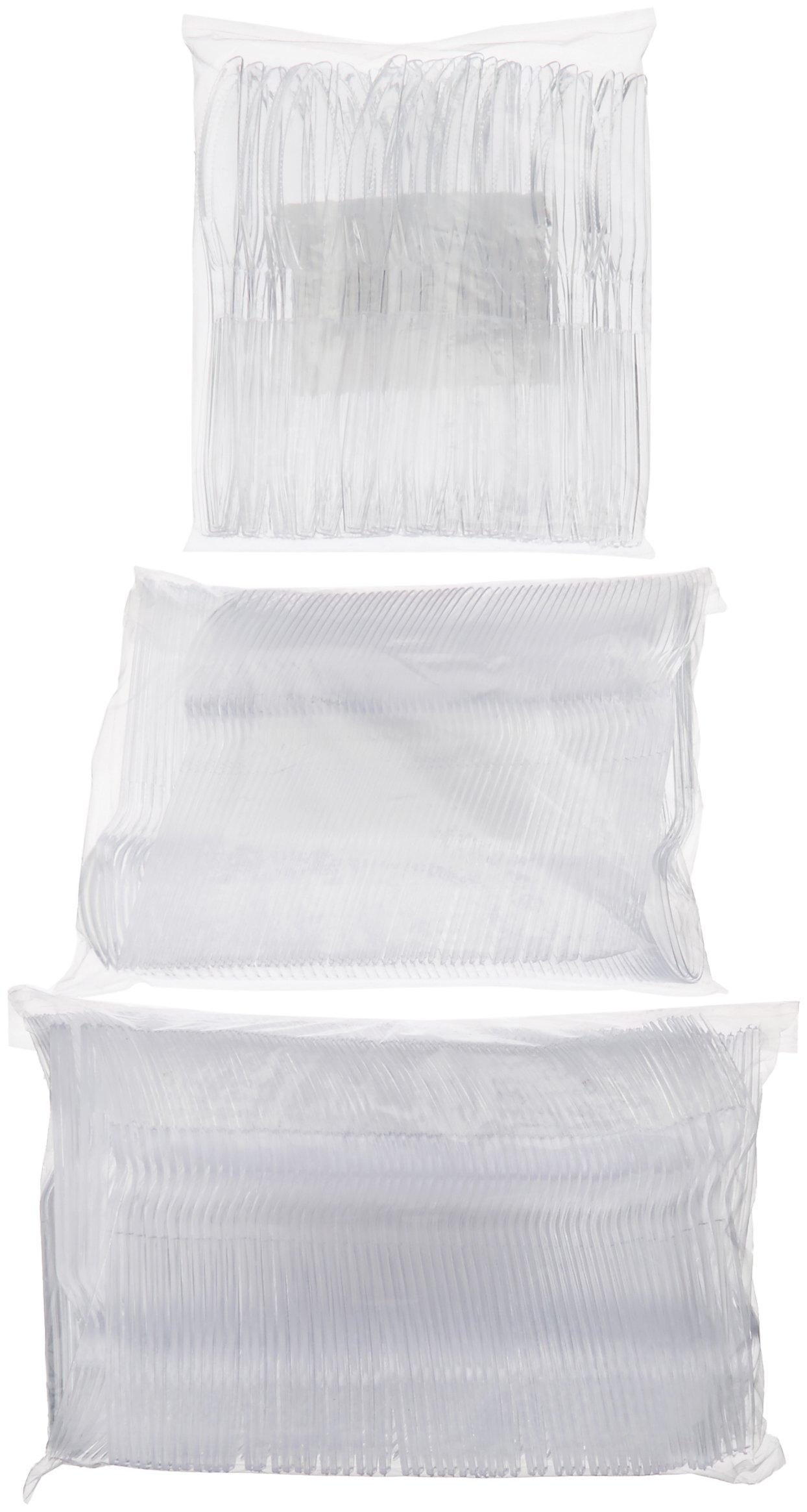 AmazonBasics 1,800-Piece Clear Plastic Cutlery Set by AmazonBasics (Image #5)