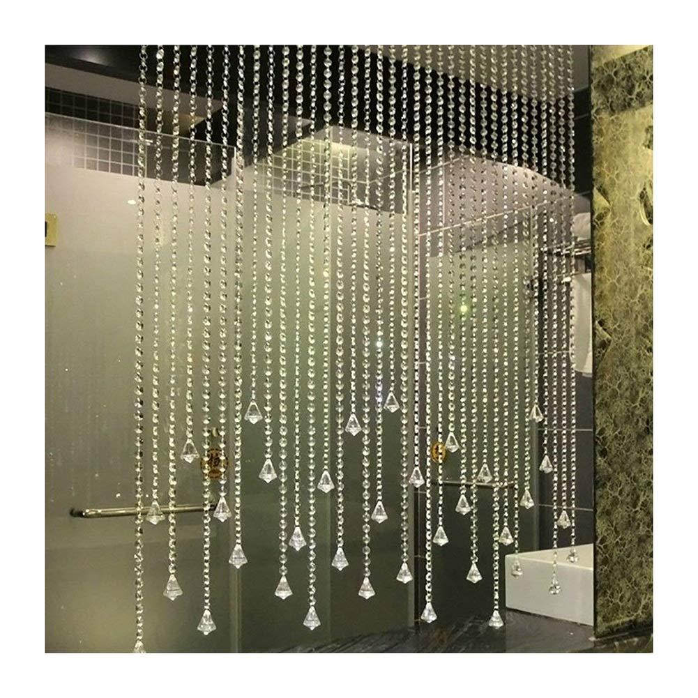 WUFENG Vorhang Perlen Vorhang Abgeschnitten Korn Vorhang Schlafzimmer Dekoration Wohnzimmer Eingang, Mehrere Größen Kann Angepasst Werden Vorhänge (Farbe   B, größe   70x220cm)