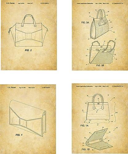 Amazon Com Kate Spade Patent Wall Art Prints Set Of Four