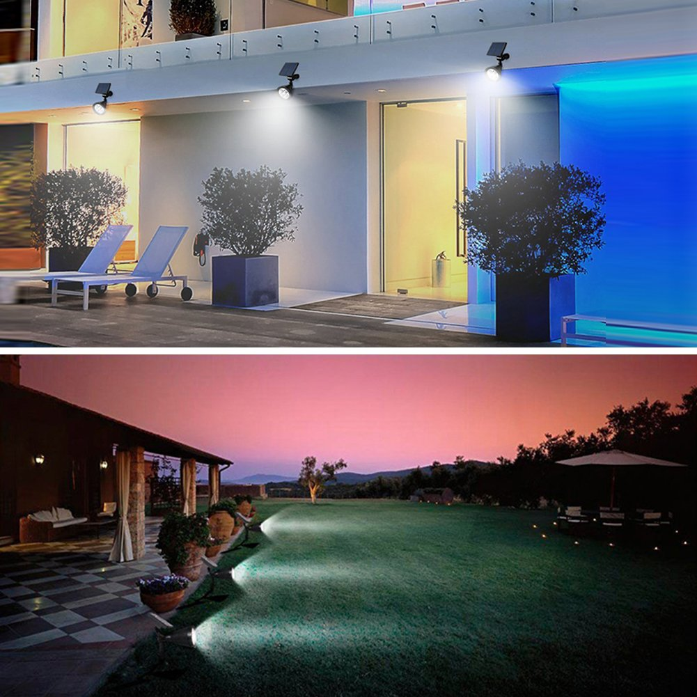 PowerKing Flood Light LED Outdoor Remote Solar Flood Light For Garden (8 color,2 pcs) by PowerKing (Image #2)