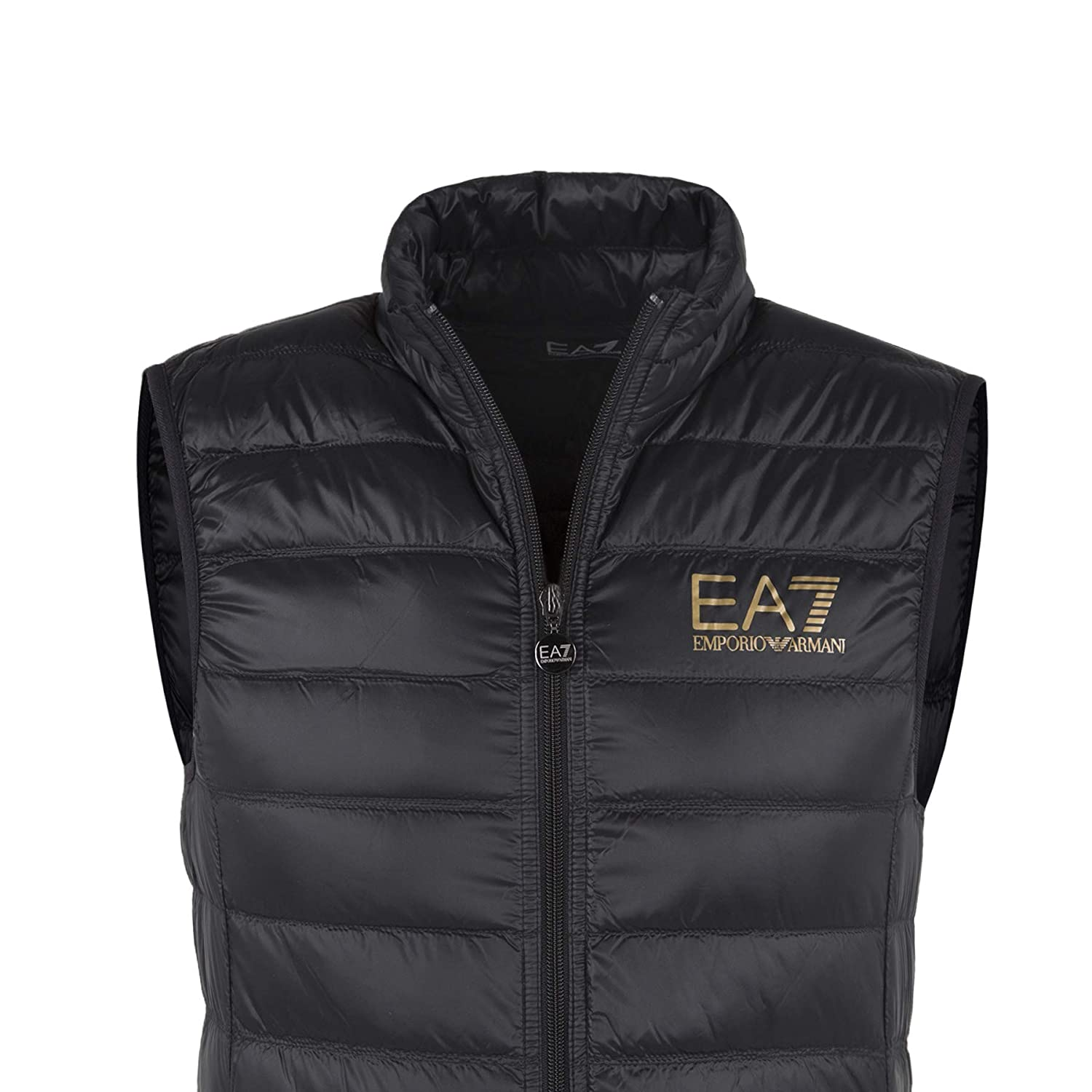 5cb0018177d1 Emporio Armani EA7 Ultra-Light Down Black Gillet  MainApps  Amazon.co.uk   Clothing
