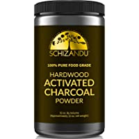 Schizandu Organics Activated Hardwood Charcoal Powder, Vegan 100% Pure Detox | Use...