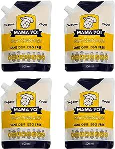 Mama Yo! Vegan Egg-Free Mayonnaise 4 x 500 ml