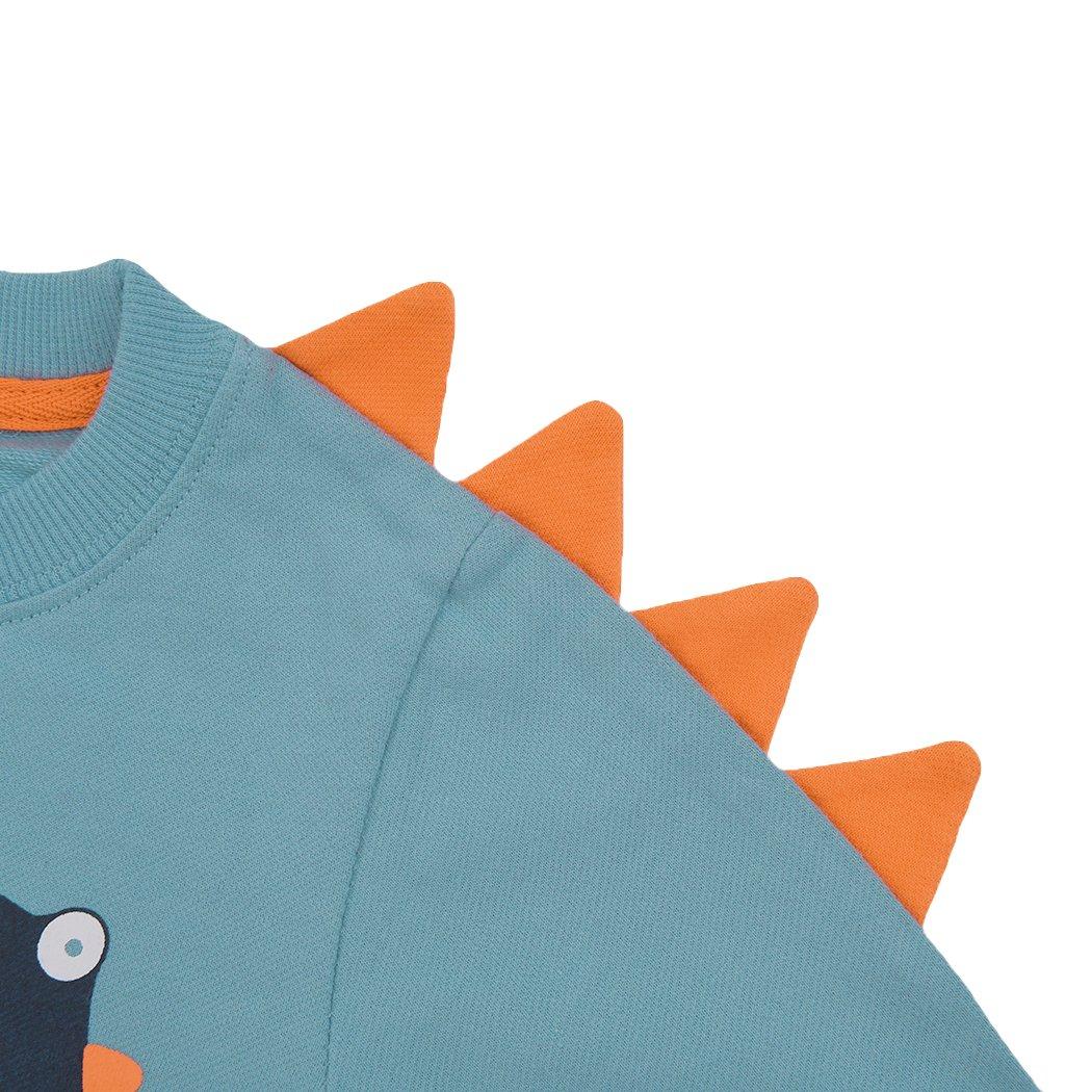 Rebavl Toddler Boys Long Sleeve Pullover Sweatshirts Cartoon Dinosaur T-Shirt Tops For Kids 2-7 Years