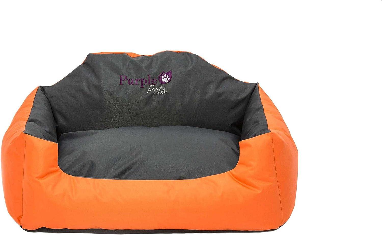 Purple-Pets Cama para Perro, Cama para Gato, Cama de Mascota, Suave Sofá Cesta, Resistente al Agua, Fácil Limpieza (Pequeño, Naranja): Amazon.es: Hogar