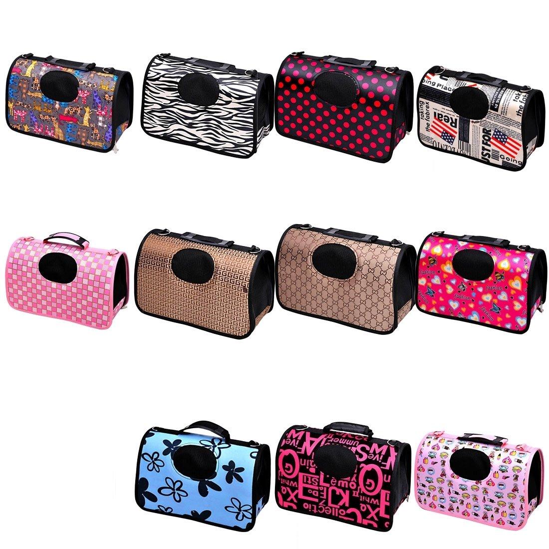 Xujw-pet, Sacchetto di spalla borsa portatile dell'animale domestico domestico domestico per il gatto   cane ed altri animali domestici piccoli, formato  34  18  24cm ( SKU   Hc2874d ) 0df214
