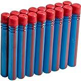 BOOMCO Pack de 16 Fléchettes Bleues / Rouges