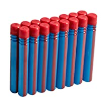 BOOMCO Dardos Softra, color Azul/Rojo a Rayas