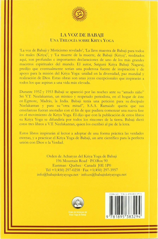 VOZ DE BABAJI, LA UNA TRILOGÍA SOBRE KRIYA YOGA: Amazon.es ...