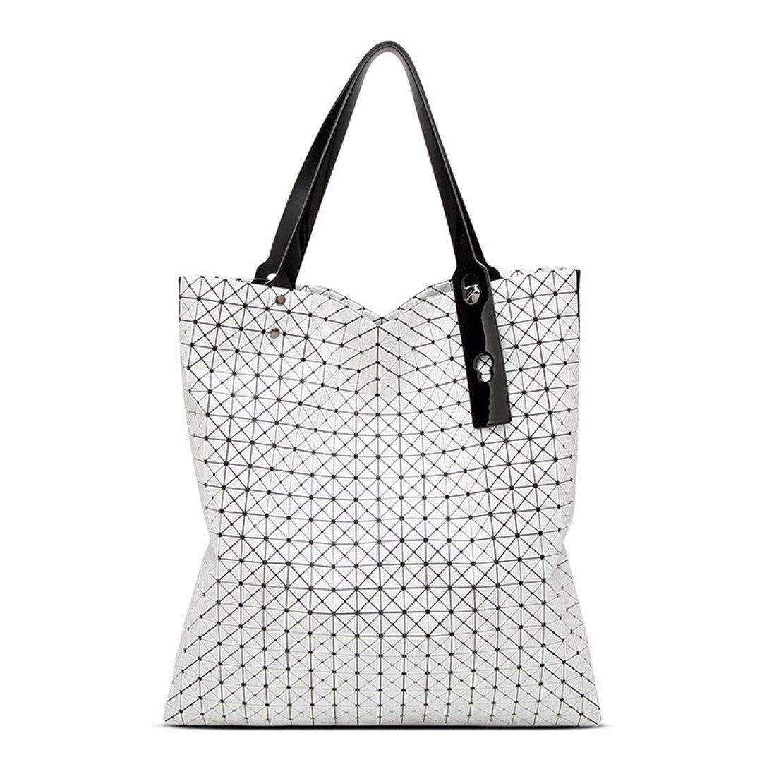 Frauen-Geometrie-Taschen-Silikagel, das über Handtaschen-Frauen-Taschen-Totes-Schulter-Taschen faltet Weiß B07FC8T6NL Schultertaschen Ausgezeichnetes Handwerk