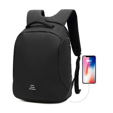 GENOLD Antirrobo Seguridad Mochila portatil 15.6 Pulgadas Impermeable con Carga USB Bolso de Viaje para para