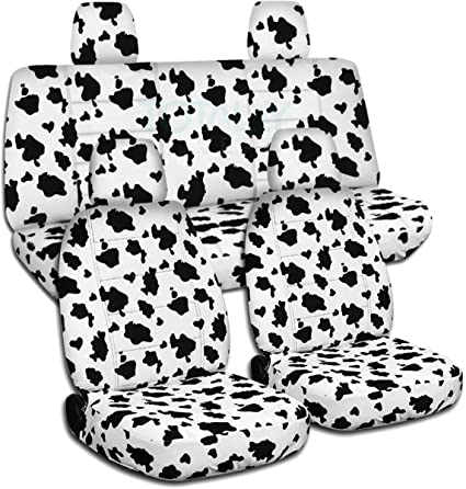 amazon designcovers fits 2011 2018 jeep wrangler jk animal 2007 Jeep Wrangler designcovers fits 2011 2018 jeep wrangler jk animal print seat covers cow full