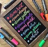Neon Liquid Chalk Markers by VersaChalk - Wet Erase Chalk Ink Pens for Chalkboard Signs, Blackboard, Dry Erase Board