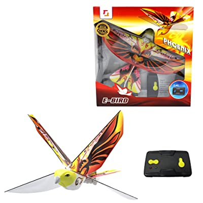 2.4GHz REMOTE CONTROL FLYING PHOENIX E-BIRD with life-like flapping wing. Great kids gift for indoor & out door use.: Toys & Games