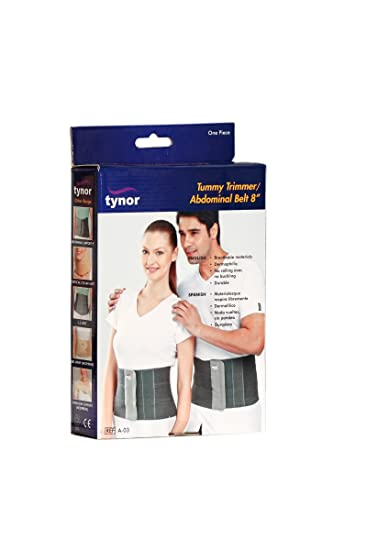 Amazon.com: Tynor Tummy Trimmer Or Abdominal Belt - Small (8-Inch Width): Health & Personal Care