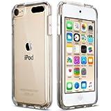 iPod Touch 7 Clear Case, iPod Touch 6 Case, iPod Touch 5 Case, ULAK Clear Slim Soft TPU Bumper PC Back Hybrid Case Cover…