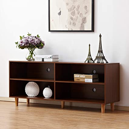 Ordinaire Amazon.com: Soges TV Stand 58.3 X 15.7 Inch Living Room Entertainment  Center Media Storage Console, Walnut HHGZ003 WN: Kitchen U0026 Dining