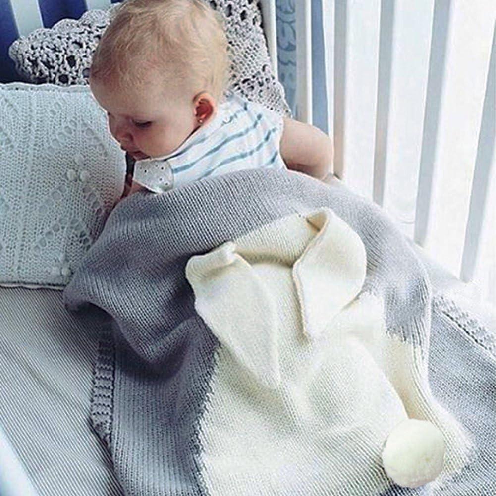 A La Cabina Blanket B/éb/é Blanket Peluche Warm Impression Lapin Mignon Couvertures B/éb/é Petite Couverture de S/écurit/é Serviette de Bain Hiver pour B/éb/é Gar/çon Fille