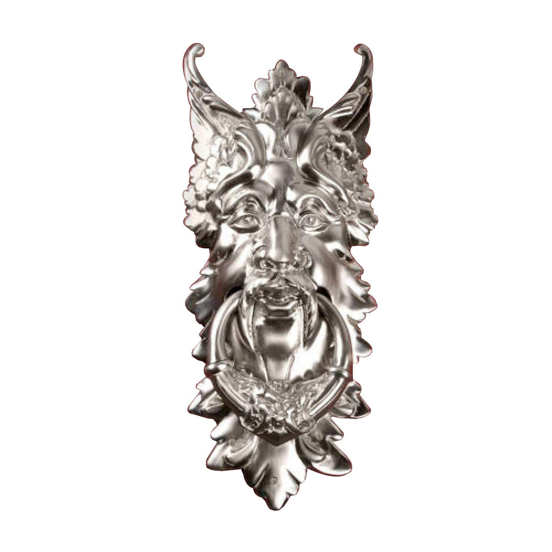 Casa Hardware Oberon Brass Door Knocker - Brushed Nickel