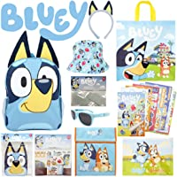 Bluey Showbag Kids Gift Pack with Backpack Cooler Bag Colouring Pages Toys Stickers – Show Bag for Birthday Christmas…