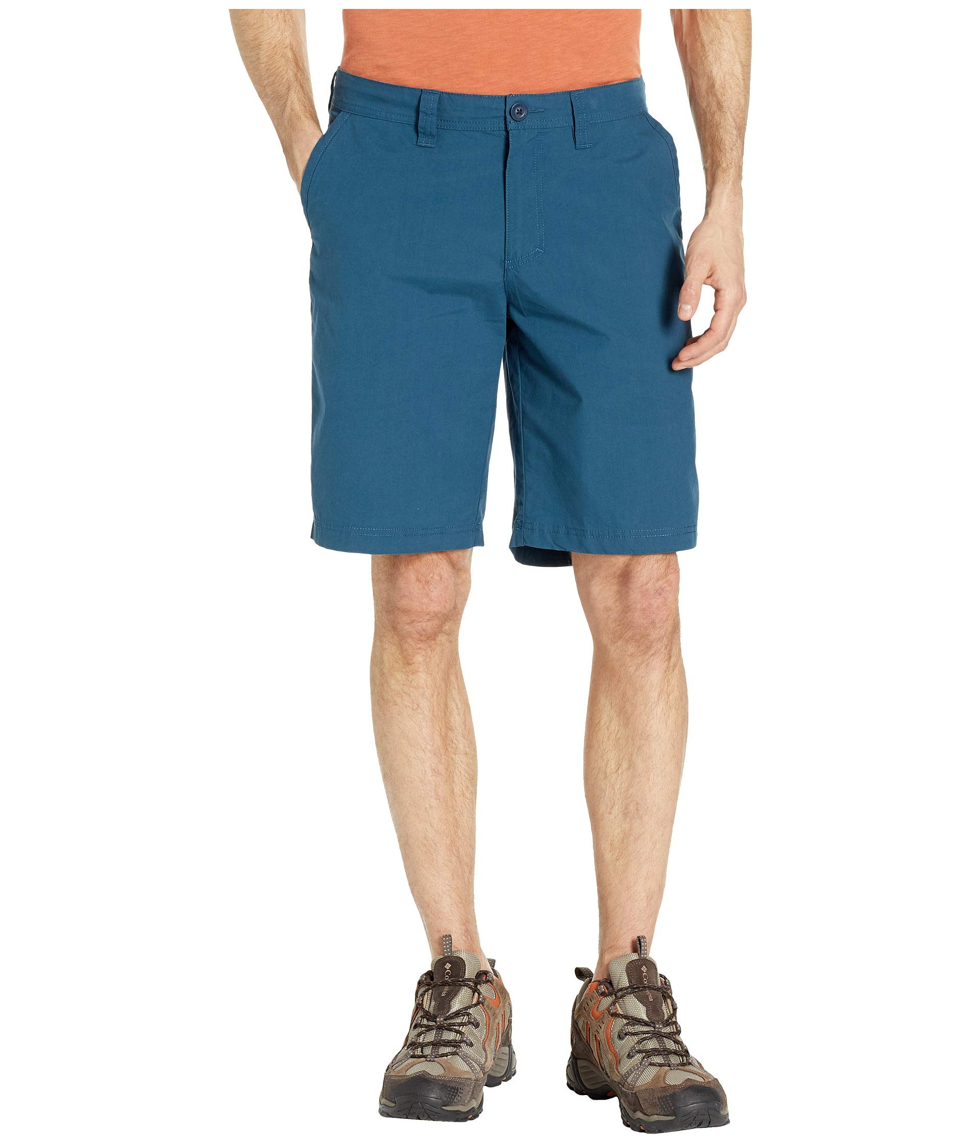 Columbia Men's Washed Out Chino Short, Petrol Blue, 38x10 by Columbia
