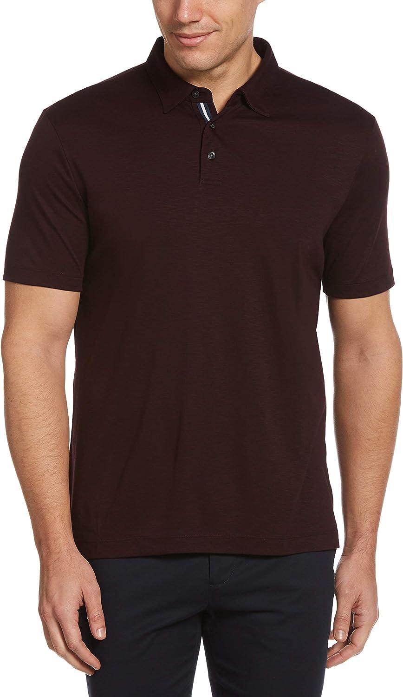 Perry Ellis Men's Ultra Soft Touch Slub Short Sleeve Polo Shirt