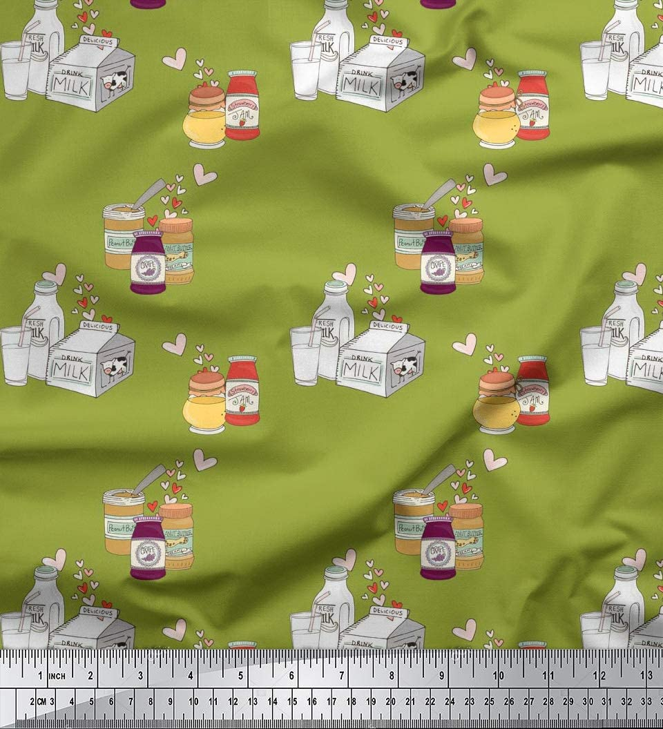 Bottle Green Crepe Georgette Fabric 58/'/' PRICE PER METER