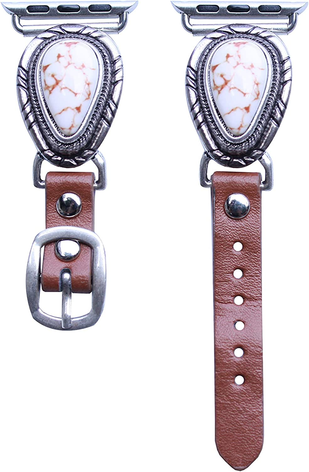 40mm/38mm Compatible for Apple Watch, Delicate Western White Teardrop Watch Band No. 6W