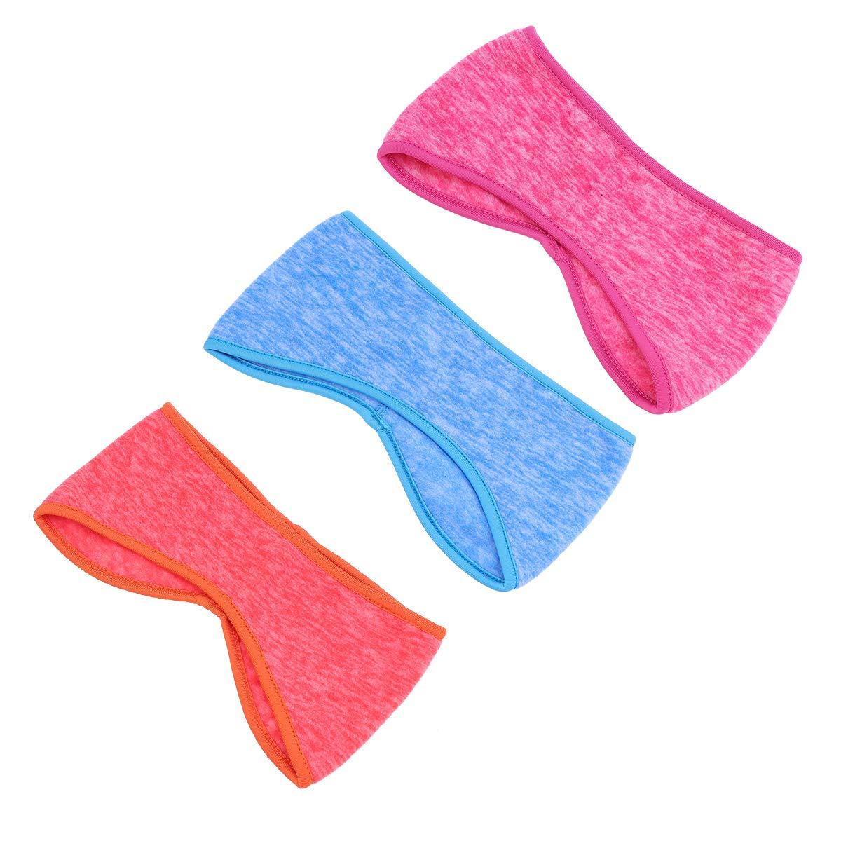 VORCOOL Bandeau doreille Hiver Bandeau Cache-Oreilles Tissu Chaleureux avec Couverture Unisexe Sport Quotidien