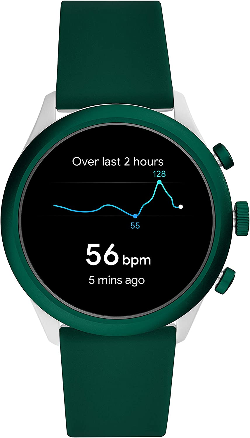 Color: Grey Fossil Mens Sport Heart Rate Metal and Silicone Touchscreen Smartwatch Spruce Green Model: FTW4035