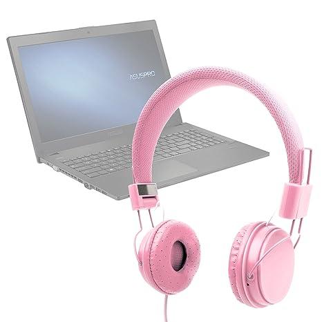 DURAGADGET Auriculares De Diadema Color Rosa para Ordenador portátil ASUS P2520SA | P2520LA | HP 255