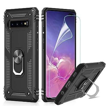 LeYi Funda Samsung Galaxy S10 Plus Armor Carcasa con 360 Anillo iman Soporte Hard PC y Silicona TPU Bumper antigolpes Fundas Carcasas Case para movil ...