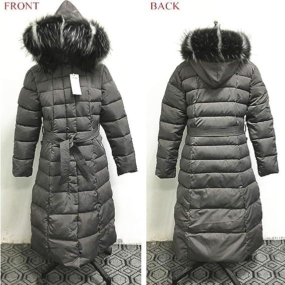 Amazon.com: Khunria-show-outerwear Women Big Fur Belt Hooded Thick Down Female Jacket Slim Warm Winter Outwear 2019 New,Brown Fur,M: Clothing