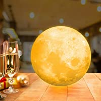 OxyLED Moon Lamp, 16 Colors 5.9 Inch 3D Print LED Moon Light with Stand Remote Touch Tap Control and USB Rechargeable…